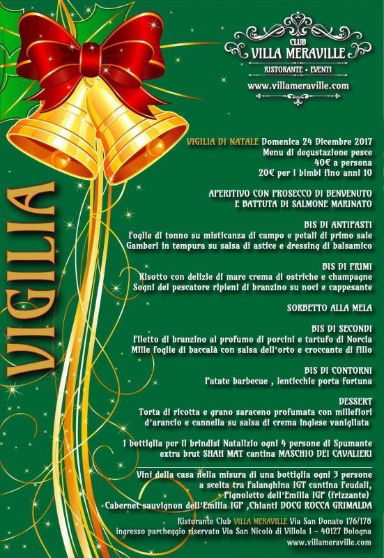 Menu Di Natale Per 30 Persone.Cena Della Vigilia A Bologna 2017 Bo Emilia Romagna