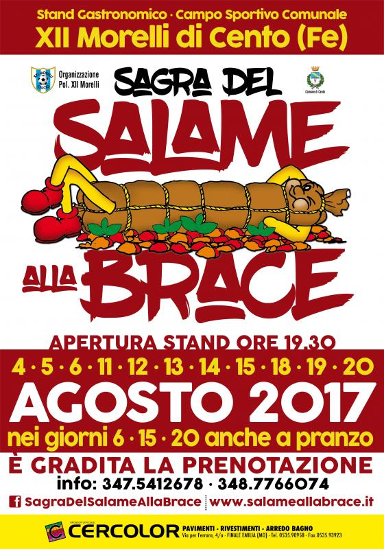 Sagra del salame alla brace cento fe 2017 emilia for Sagre emilia romagna 2017