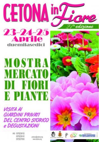 Cetona in fiore cetona si 23 04 2016 25 04 2016 for Mostre mercato fiori 2017