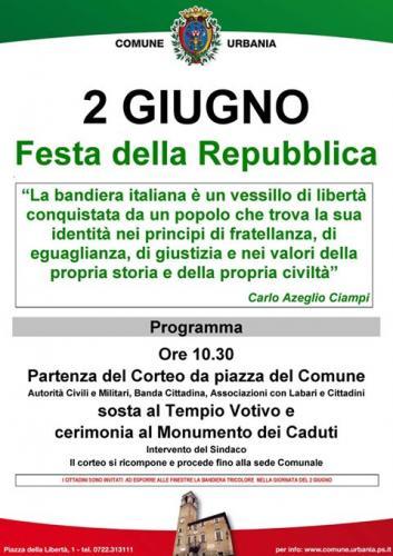 Festa della repubblica a urbania 2017 pu marche for Sito della repubblica