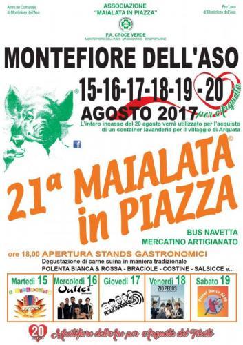 Maialata in piazza montefiore dell 39 aso ap 2017 marche for Eventi marche 2017