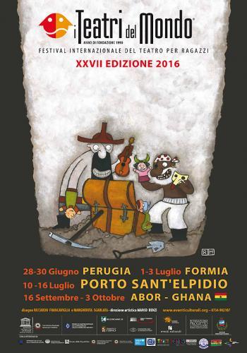 """Locandina del festival """"I teatri del mondo"""", edizione 2016"""