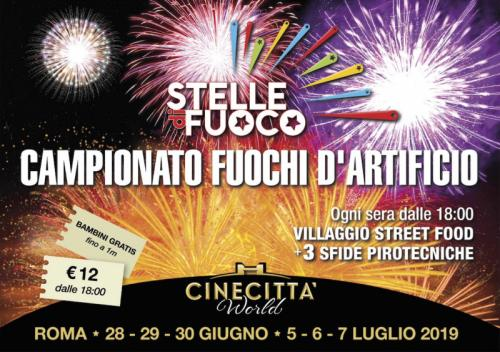 Campionato Italiano Fuochi D'artificio A Roma Cinecittà World - Roma