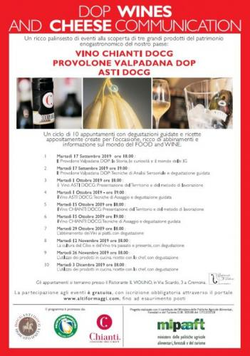 Dop Wines And Cheese Comunication - Cremona